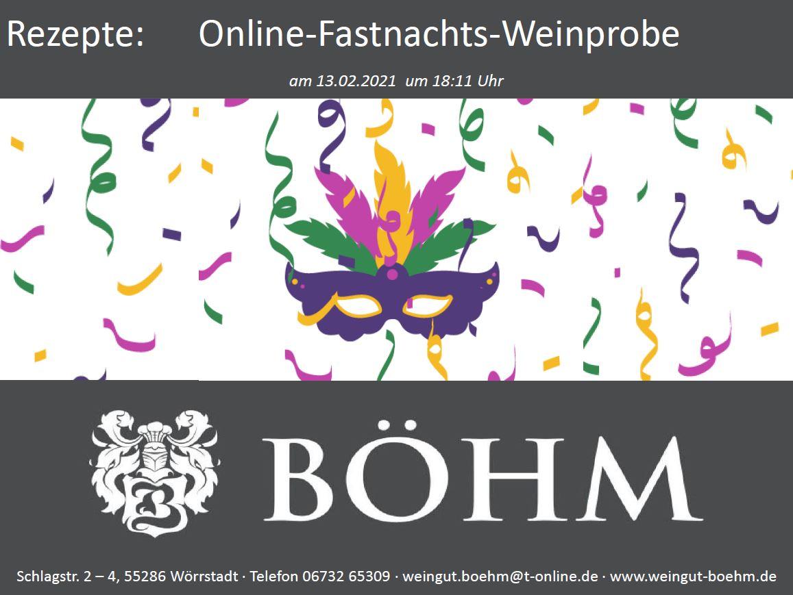 Online-Fastnachts-Weinprobe: Rezeptbuch