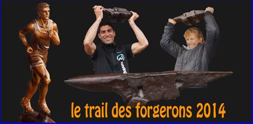 Les vainqueurs du Trail 2014 soulèvent l'enclume des Forgerons