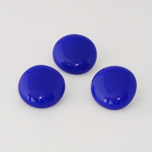 P1150. Easy button stenen van kobaltblauw opaal glas.     per stuk €2.00 en 3 voor €5.00.
