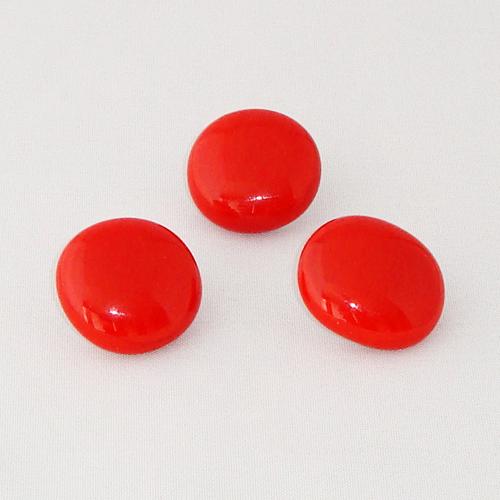P1149. Easy button stenen van rood opaal glas.     per stuk €2.00 en 3 voor €5.00.