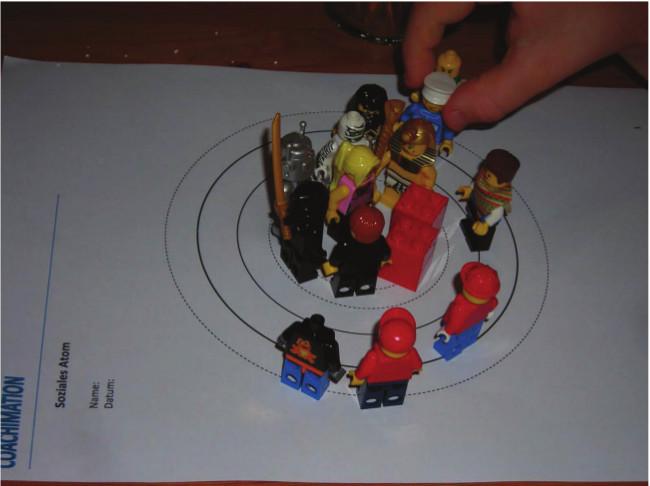 Soziales Atom für Kinder adaptiert