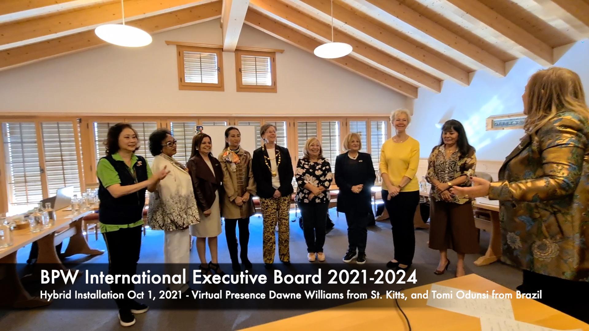 Installation of BPW International Executive Board 2021-2024