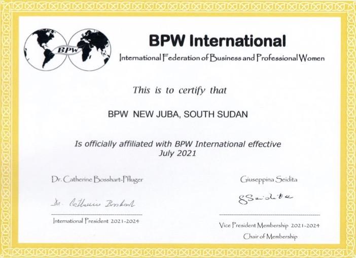New Affiliate Club - BPW New Juba, South Sudan