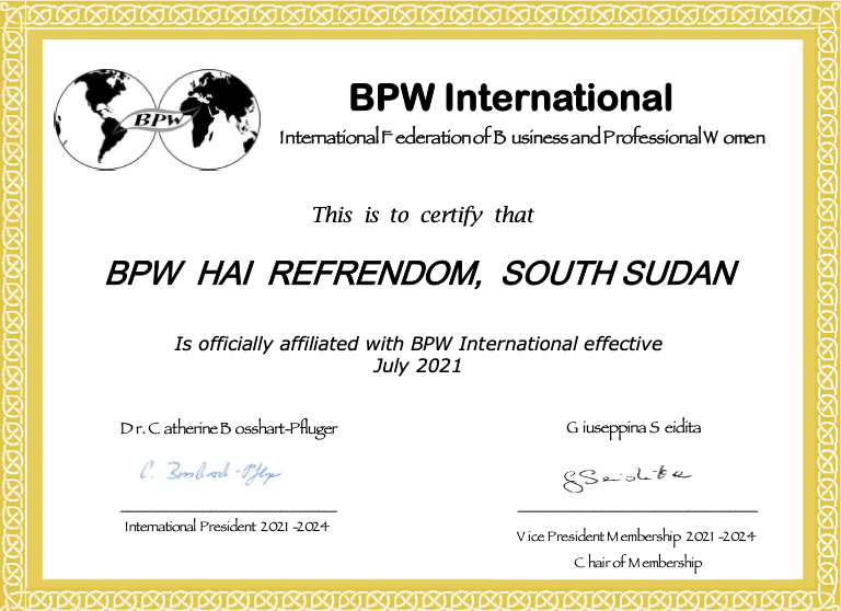 New Affiliate Club - BPW Hai Refrendom, South Sudan