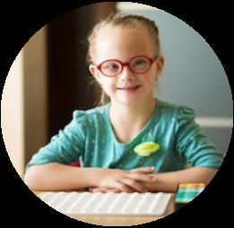 Children Writing at School