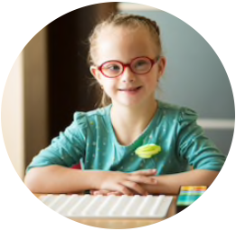 Girl with Educational Materials