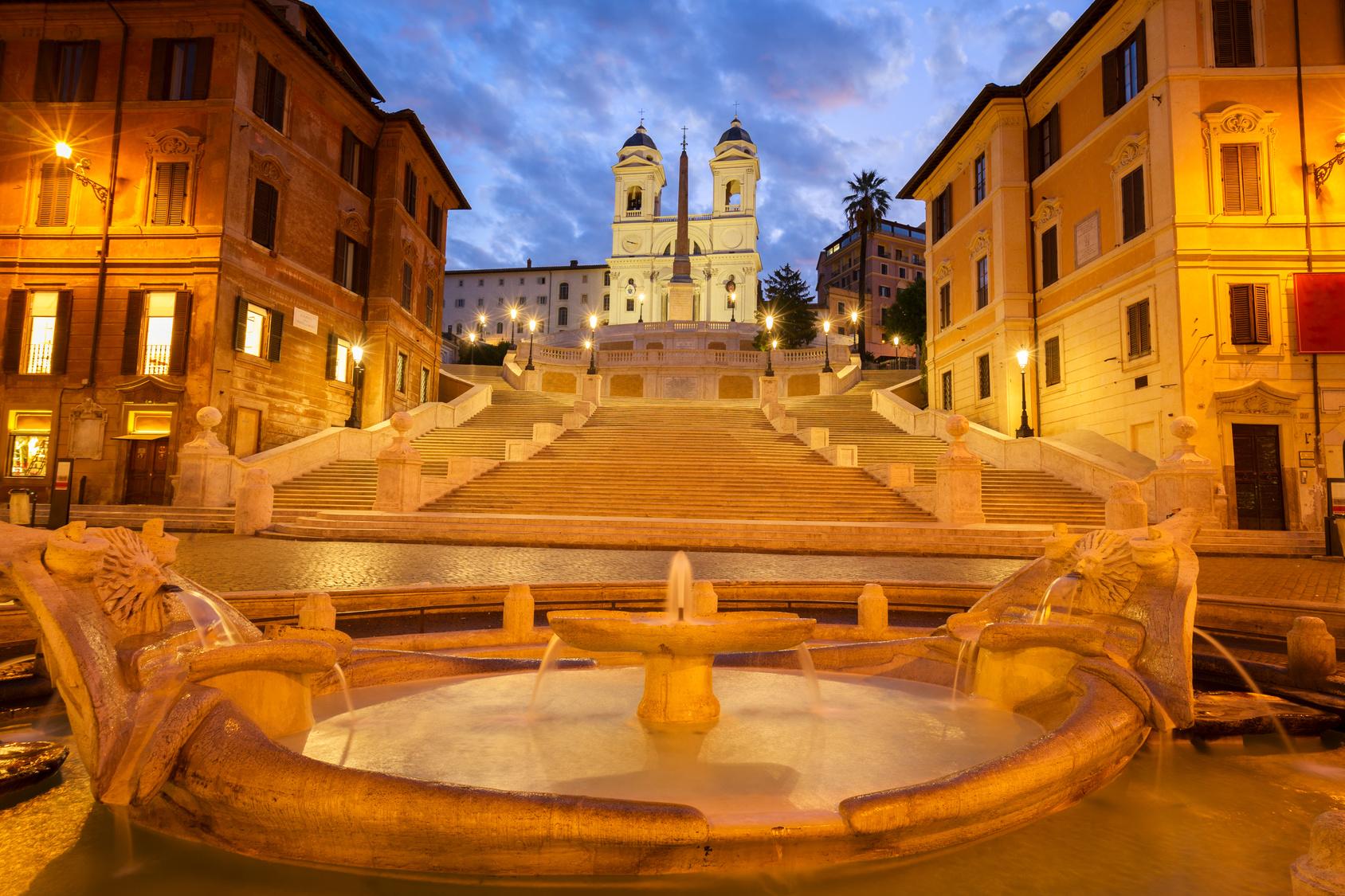 Die Spanische Treppe In Rom Fe Reisetouristik