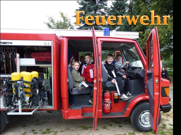 Besuch bei der Freiwilligen Feuerwehr