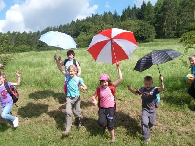 Am Gleitschirmflughang: Schirmprojekt