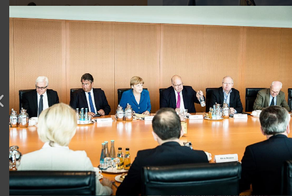 Angela Merkel and her cabinet