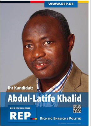Originally from Togo, Abdul is a member of the Nazi party Republikaner