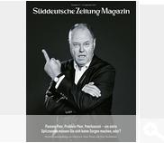Peer Steinbruck on the cover of Süddeutsche Zeitung