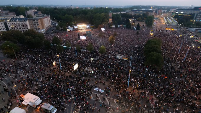 More than 65,000 people attended a concert against racism and neo-Nazis in Chemnitz