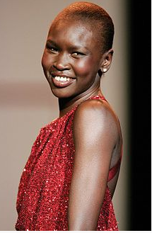 Sudanese super model Alek Wek