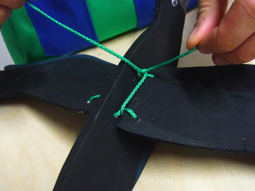 Flügel festknoten