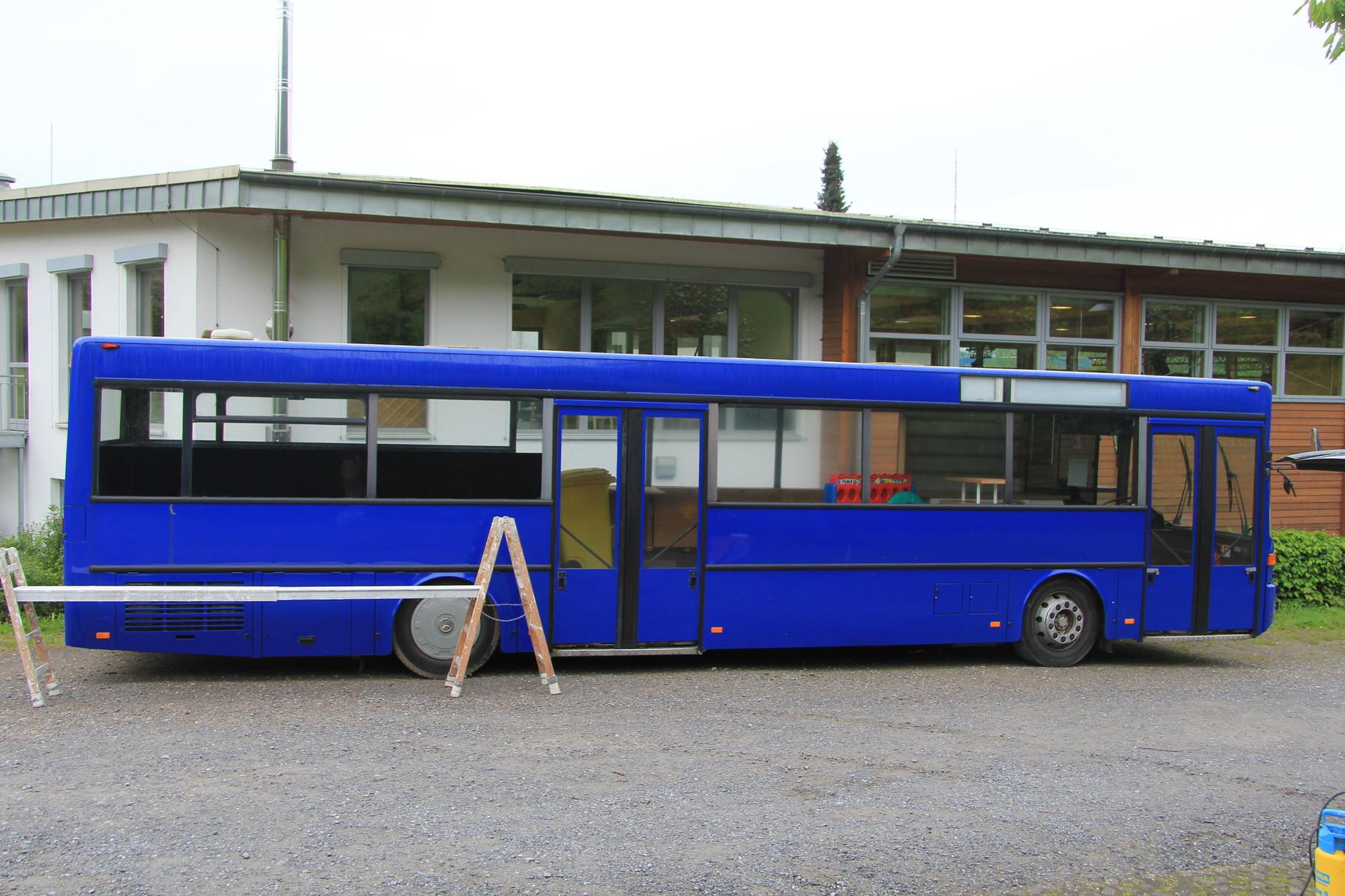 Bus vor der Gestaltung