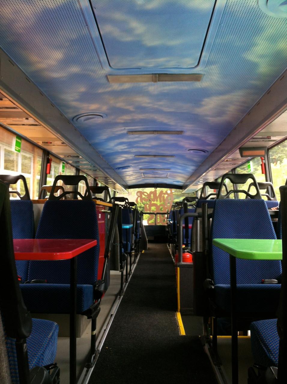 Himmelgestaltung in einem Doppeldeckerbus