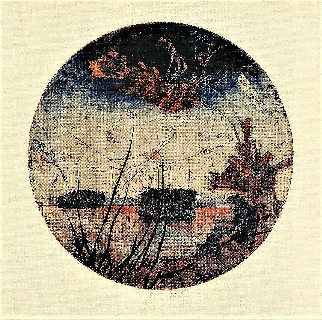 Horst Janssen: Selbst am Wasser- An Sarah Kirsch, 1989