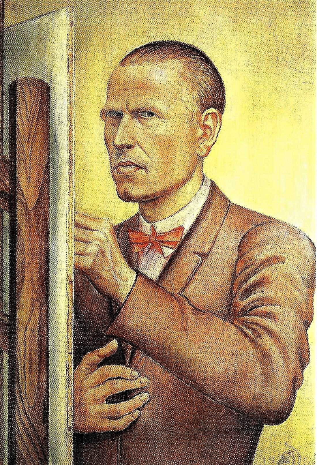 Otto Dix: Selbstbildnis mit Staffelei, 1926