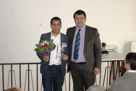 Auszeichnung von Merfin Demir (Vorsitzender Terno Drom e.V.)