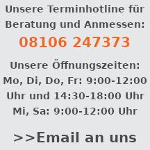 Öffnungszeiten, Tel. Nr. und Email Ortho-Huber