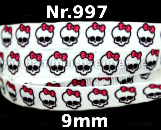 Totenköpfe Masken Bis 15mm Hammer Bänder