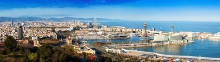 Panorama of the City Barcelona Spain private city tour