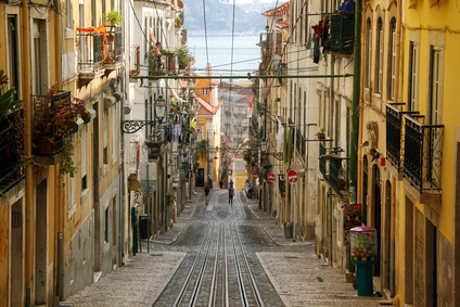 The Bica Funicular Lisbon Portugal private city tour