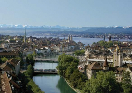 Panorama of Zurich Switzerland private city tour