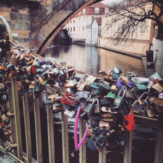 Love Padlocks in Prague