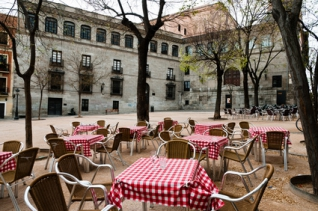 Street Cafe in Madrid