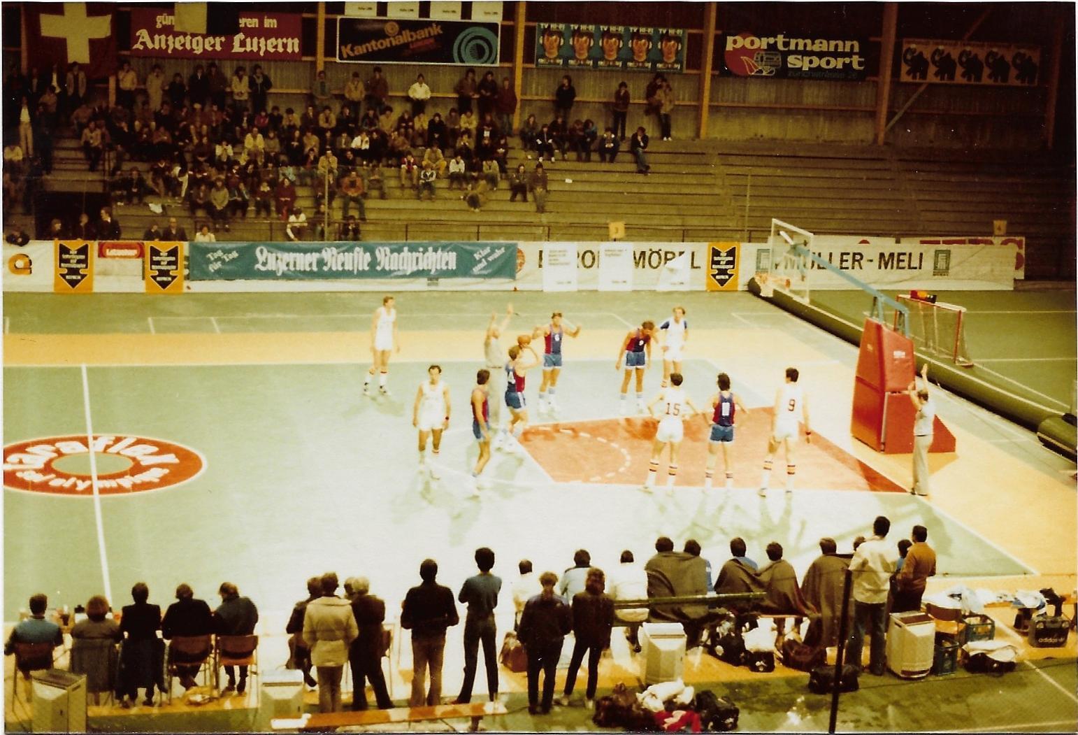 1980 - olympische Vorqualifikation in der Luzerner Eishalle