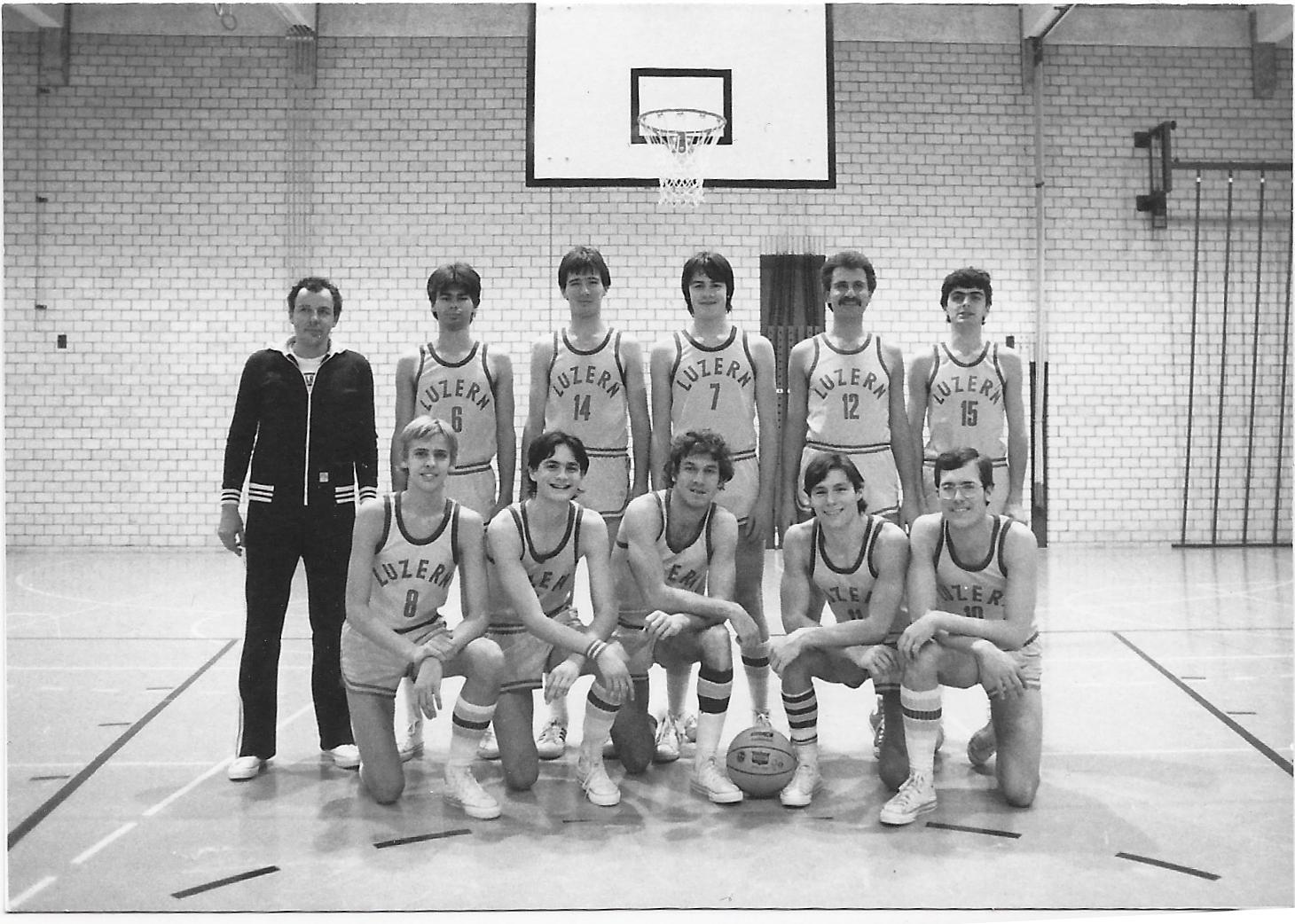 1978/1979 - STV Luzern Herren mit Rich Rizzuto (vorne Mitte)