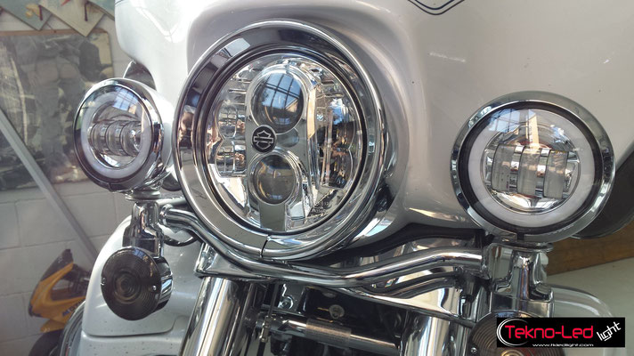 AGOSTO 2016 - Tekno-Led con Harley Davison Street Glide Perry - Lissone (MB)