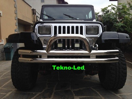JEEP Wrangler YJ monta due Barre LED mod.CF6X3