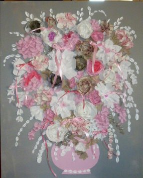 Grand bouquet rose 120x80
