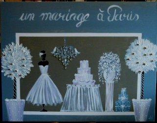 Mariage à Paris 100x80