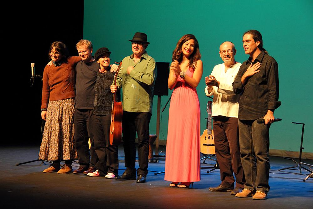 Yani Martinelli, Mark Walden, Carmen Ros, José Luis Montón, Marisa Tolentino, Isidro Solera y Julio García.  Foto: Ricardo Solanes