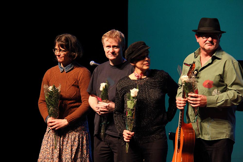 Yani Martinelli, Mark Walden, Carmen Ros y José Luis Montón.  Foto: Ricardo Solanes