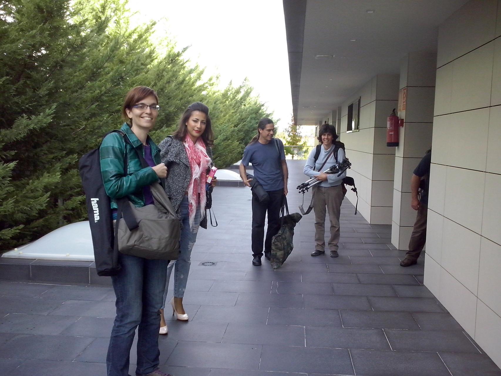 Almudena M.Castro, Marisa Tolentino, Julio García y Rocío Martín después de la grabación de Papers