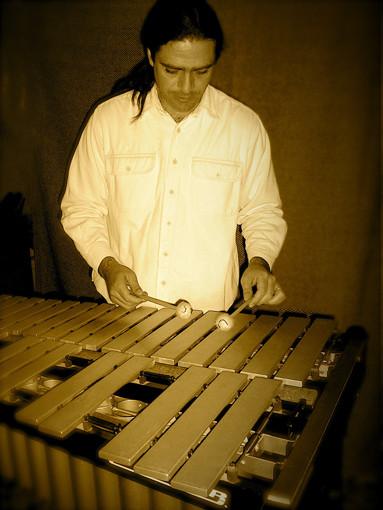 Julio García al vibráfono