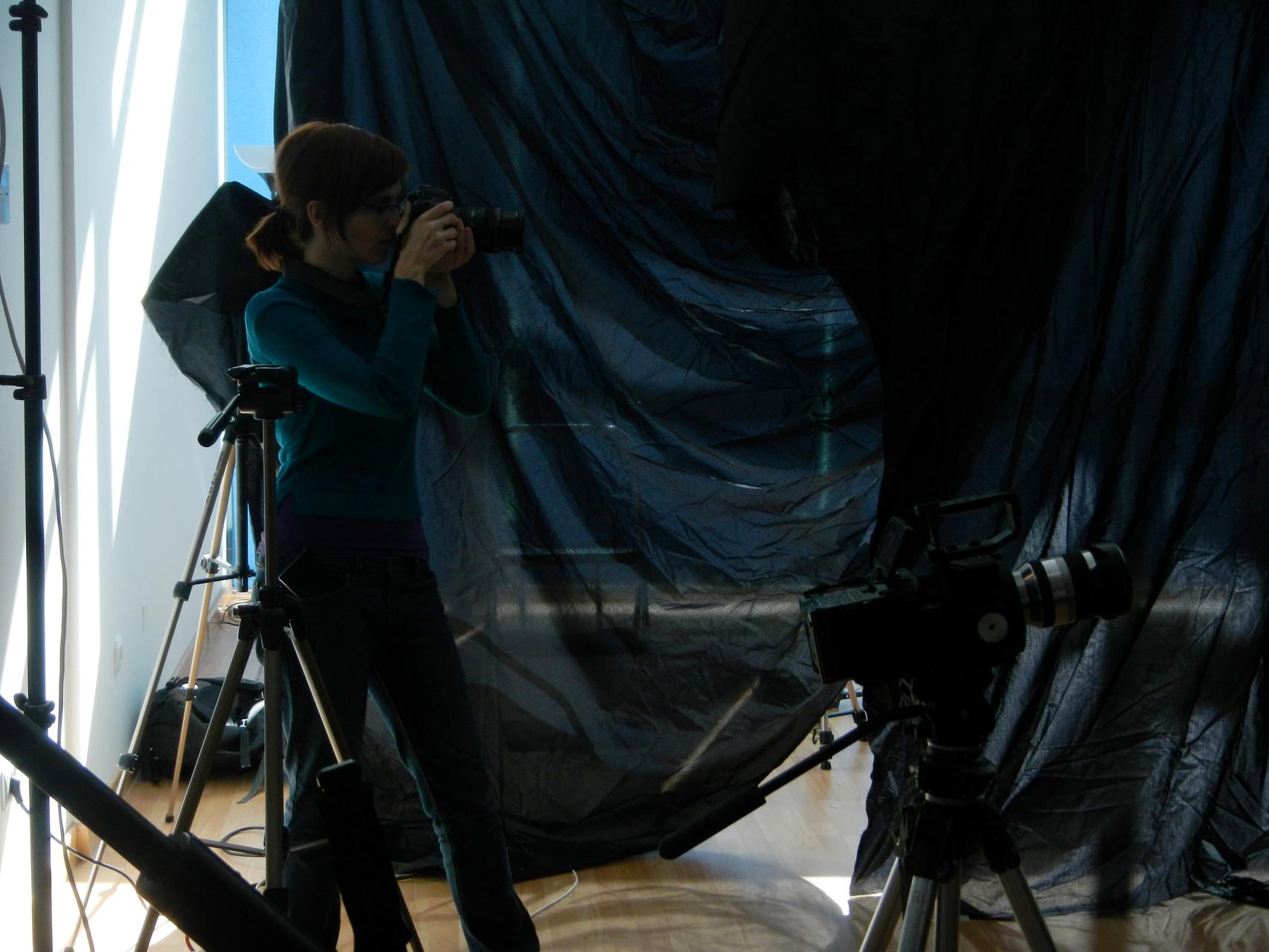 Almudena M. Castro, grabación del videoclip Papers