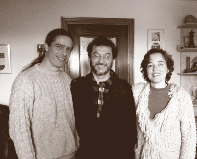 Julio García, Paulo Vieira (violín) y Carmen Ros