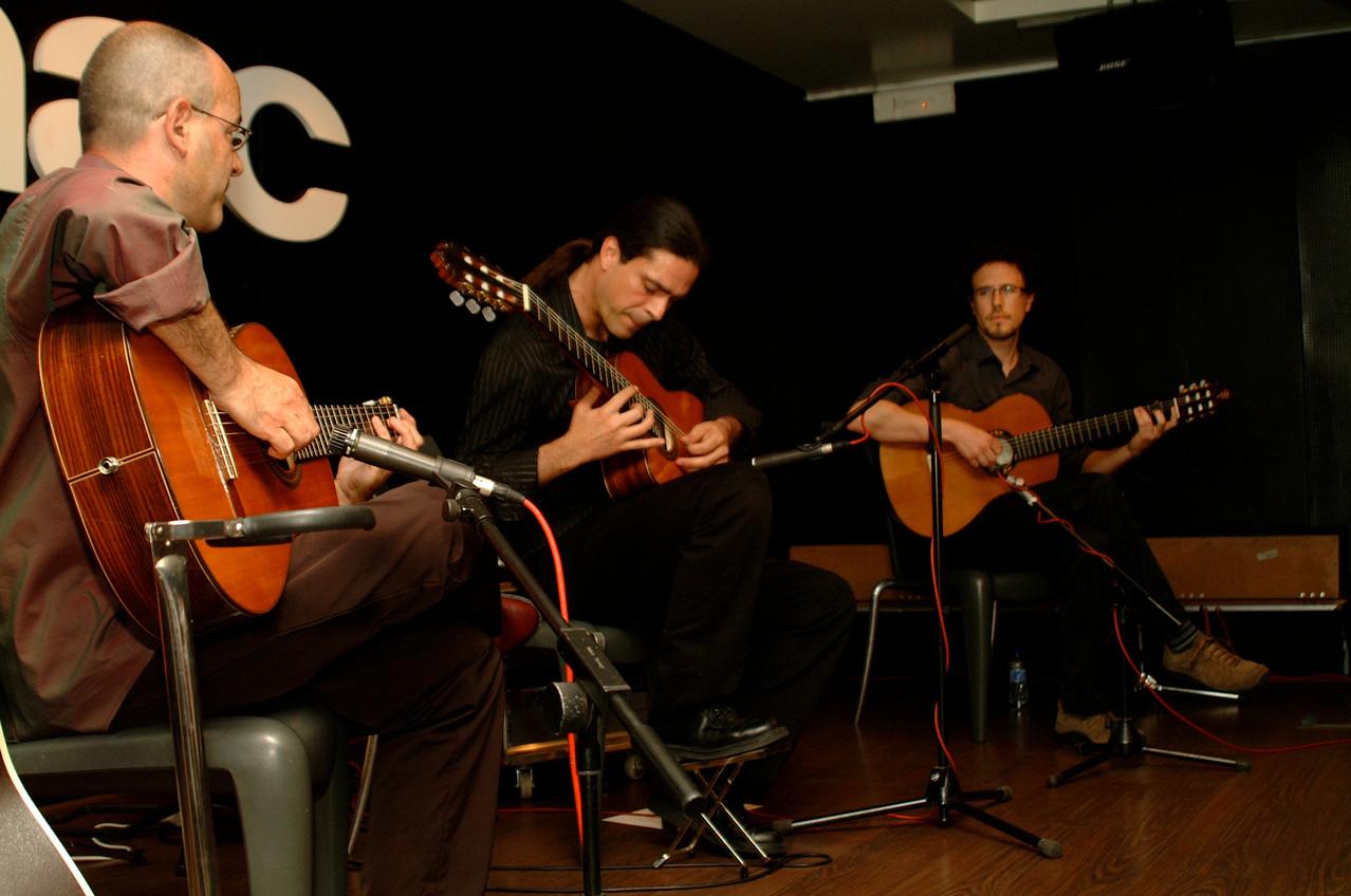 Isidro Solera, Julio García y Rodrigo Munuera