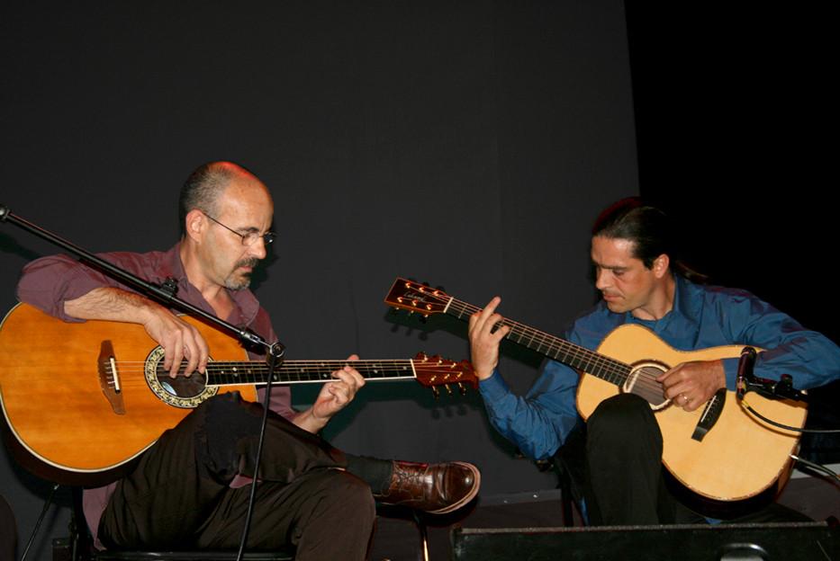Isidro Solera y Julio García en el Círculo de Bellas Artes