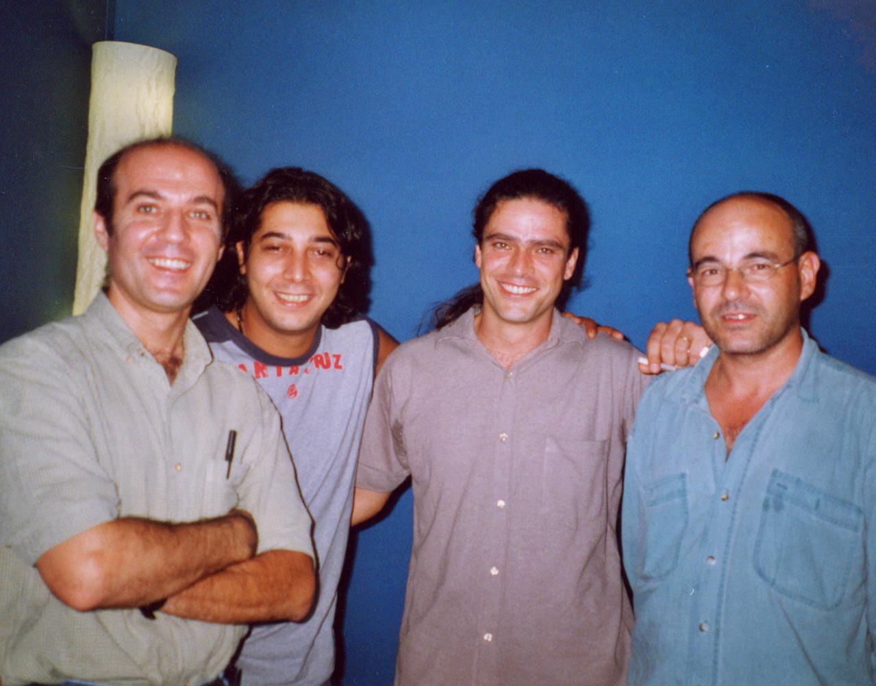 Julio Albertos (flauta), Bandolero (cajón), Julio García e Isidro Solera (guitarras)