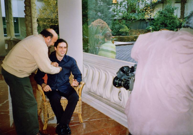 Julio García. Preparativos entrevista en La Mandrágora, La 2.