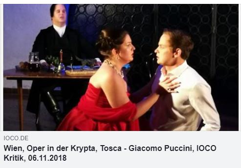 Wien, Oper in der Krypta, Tosca – Giacomo Puccini, IOCO Kritik, 06.11.2018