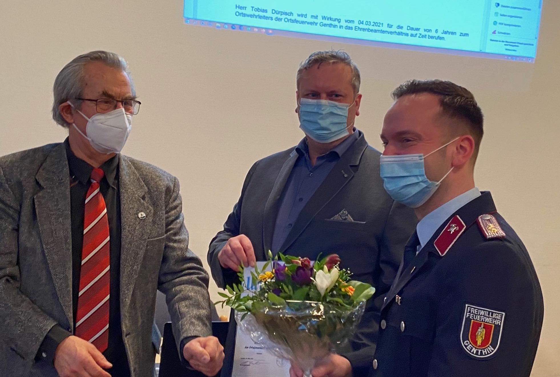 Tobias Dürpisch ist jetzt Wehrleiter