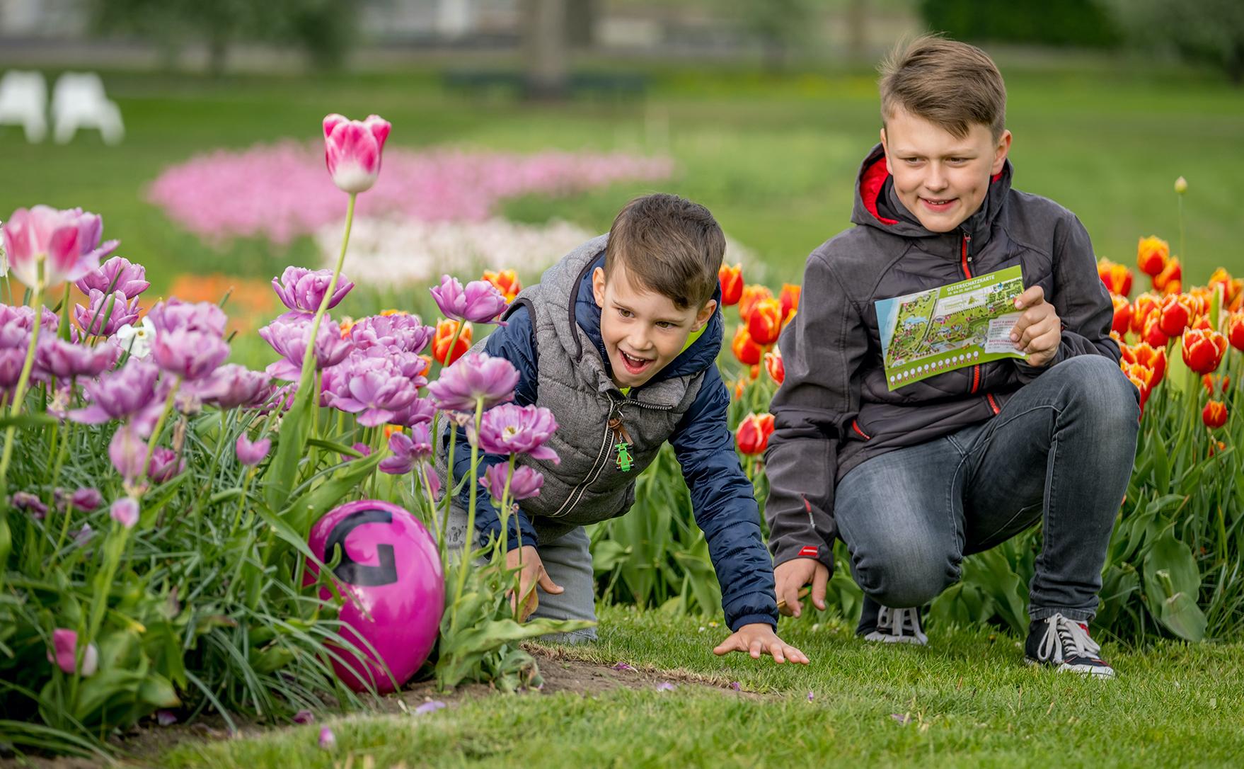 Schatzsuche: Vorfreude auf Freizeit im Elbauenpark